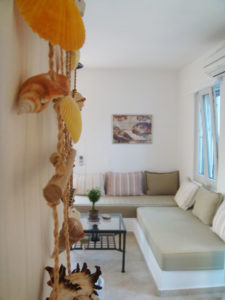 Detail of an apartment in Indigo Studios hotel, in Serifos Greece