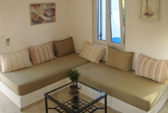 Σαλόνι στο superior διαμέρισμα του ξενοδοχείου Indigo Studios