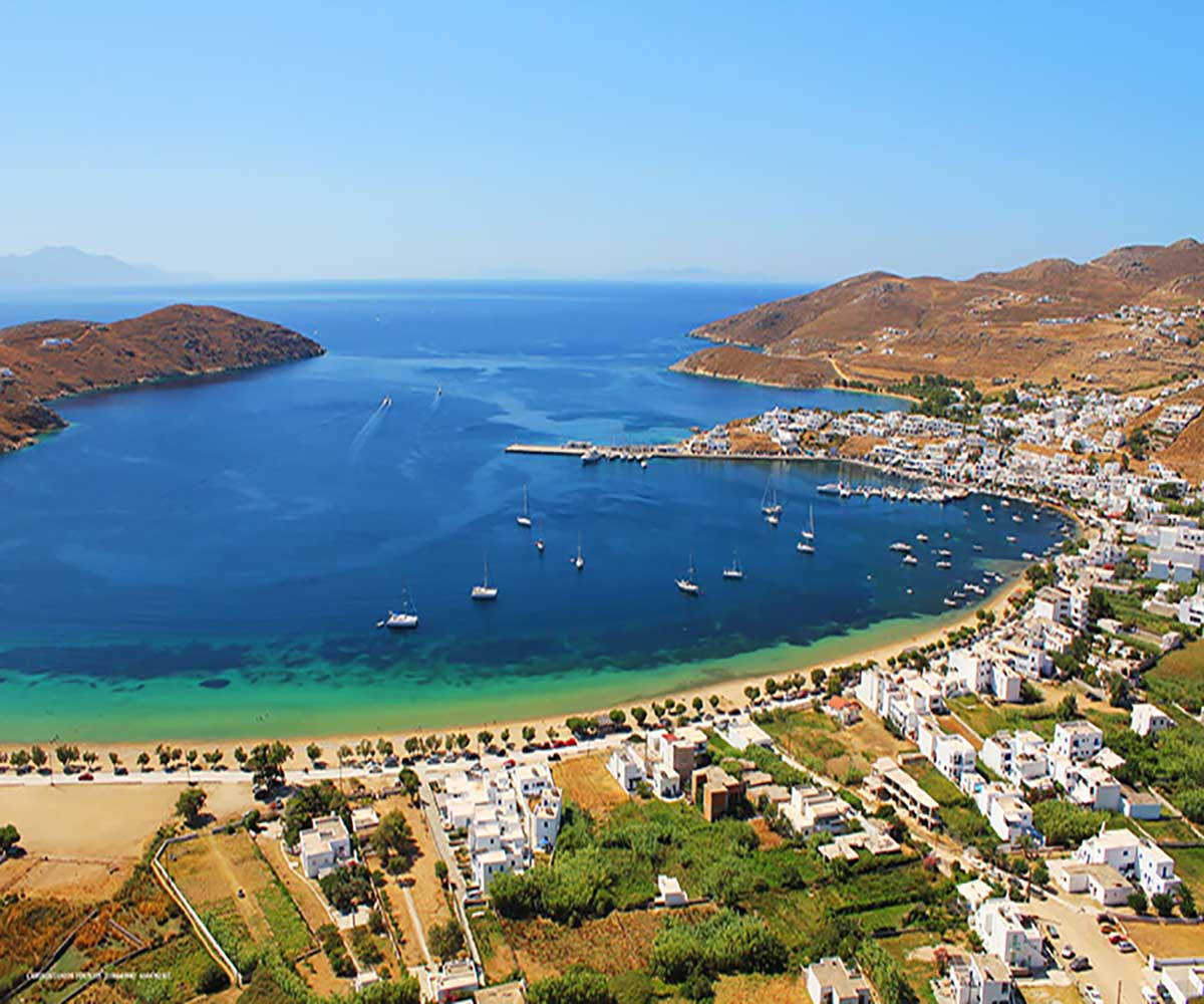 View of Livadi in Serifos where Hotel Indigo is situated